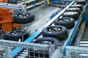 Image of a Tyre Manufacturing Process in an Industry which was running smoothly