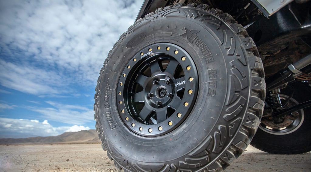 Image Shows a close-up view of jeep rubber tyres