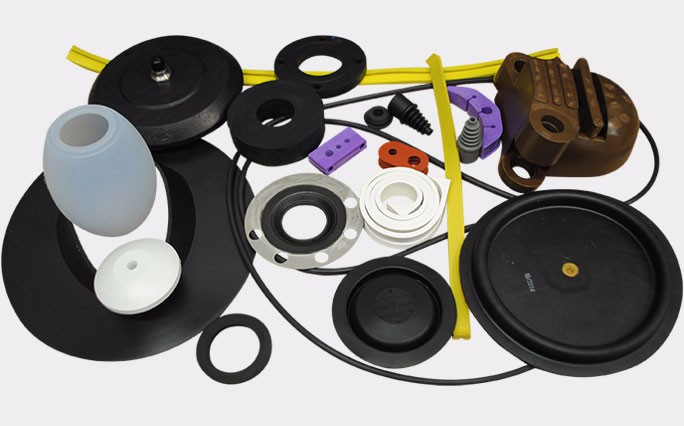 An Image consists of various types of rubber products